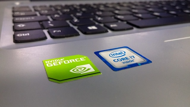 Laptop with Intel processor