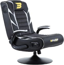 Best Gaming Chair with Speakers- BraZen 18059 Panther Elite 2.1 Bluetooth Surround Sound Gaming Chair